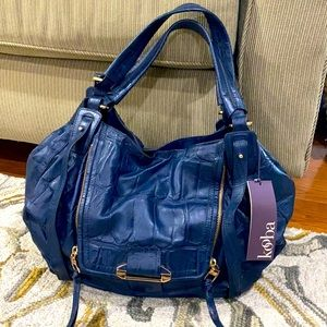 💕 Kooba NWT Jonnie navy shoulder bag $598 💕